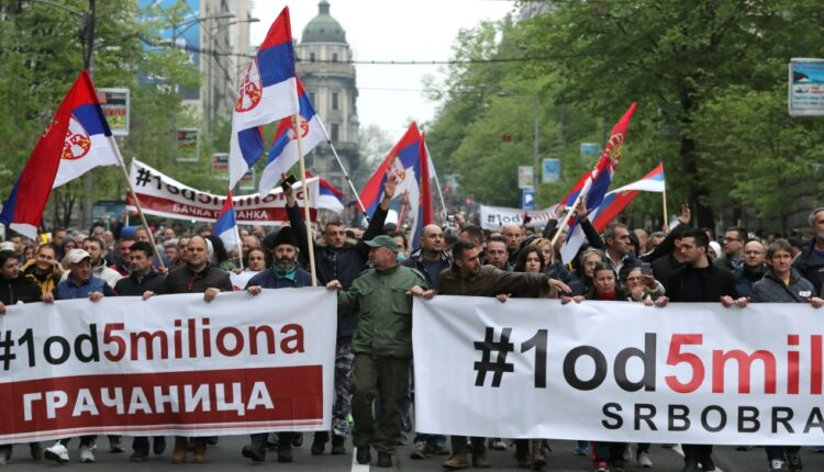 Thousands rally in Serbia against President Aleksandar Vucic   Serbia