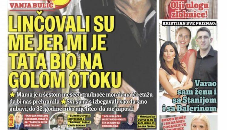 ONLY IN TODAY'S INFORMER! EXCLUSIVE Bratislav Dikić for Informer: 1,571
