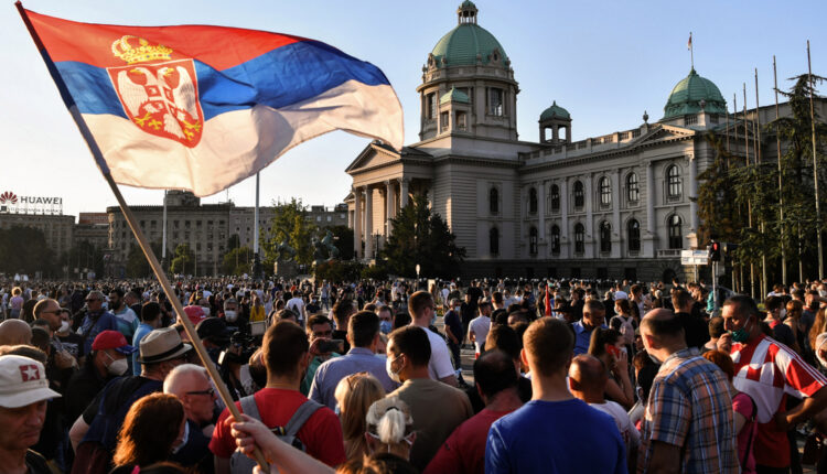 In Pictures: Belgrade protest over COVID-19 curfew turns violent  