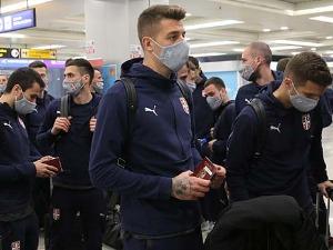 Serbian football players traveled to Baku