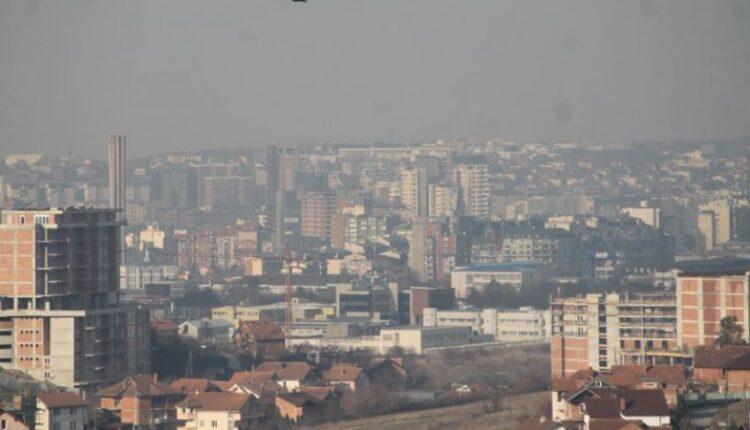 Polluted air in Prishtina