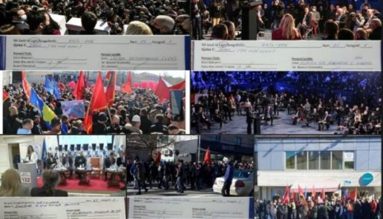 Political parties have not paid fines for rallies in Pristina