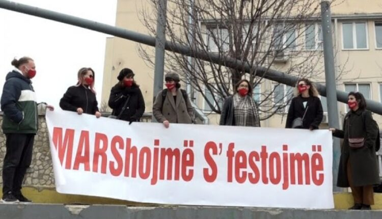 """""""Against the patriarchy that kills"""" on Monday march in Pristina"""