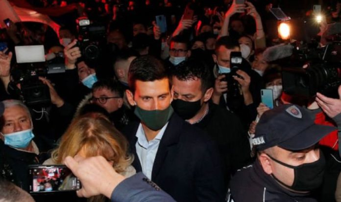 Djokovic at wild party despite rampant covid in Serbia